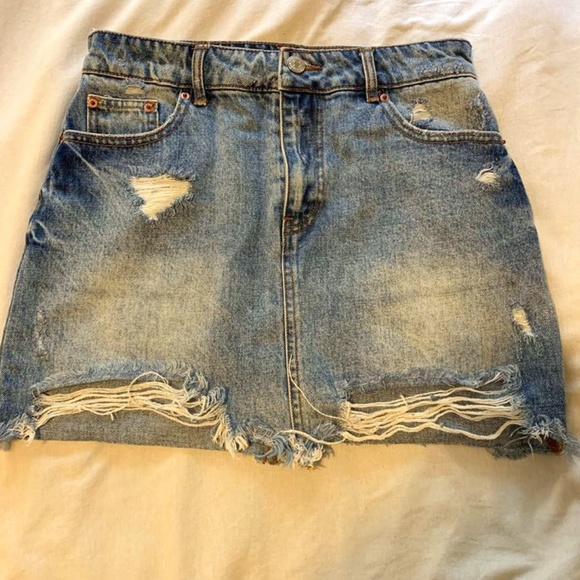 Distressed Jean Skirt (Forever 21)